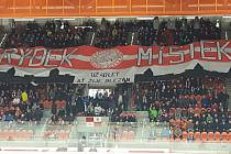 Frýdecko-místečtí fanoušci si před domácím duelem s Jihlavou připravili sympatické choreo.