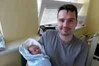 Marek Dembinný s tatínkem, Třinec, nar. 3.9., 50 cm, 3,16 kg, Nemocnice Třinec.