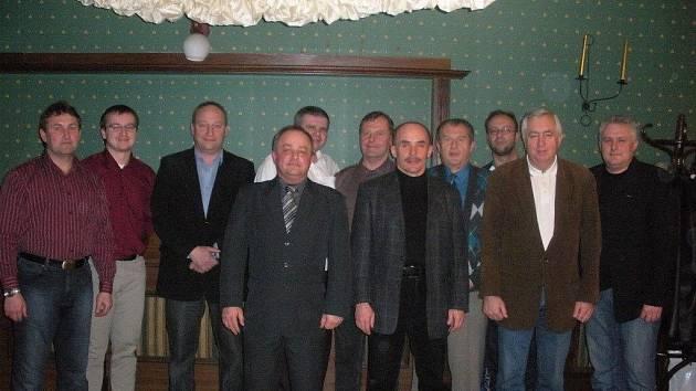 Zástupci OFS Frýdek-Místek, ObFZ Čadca a Podokregu Skoczow na jednání v Zebrzydowiciach.