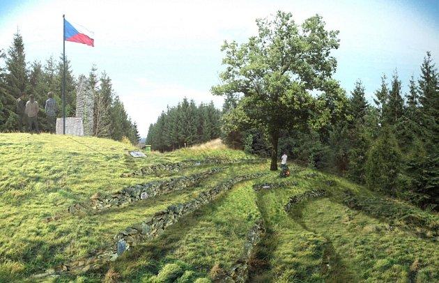 Vizualizace zachycuje budoucí pohled směrem na Lysou horu.