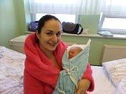 Oliver Moskovčiak s maminkou, Návsí, nar. 17. 2., 49 cm, 3,2 kg, Nemocnice Třinec.