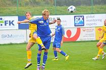 Druholigoví fotbalisté Třince zdolali na domácím trávníku favorizovaný celek Jihlavy 1:0.