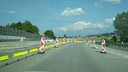 Výstavba obchvatu Frýdku-Místku. Místo, kde stávající dálnice D48 na příjezdu do města končí.