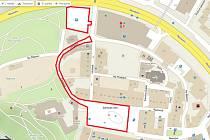 Uzavírka Zámeckého náměstí, ulice Zámecké a parkoviště u Kauflandu ve Frýdku.