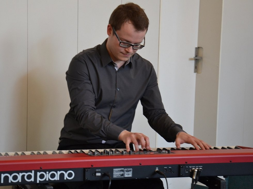 Pianista Michal Šupák.