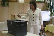 Snímek zachycuje sněmovní volby v roce 2010 ve Starém Městě. K urnám zde dorazilo bezmála 69 procent voličů.