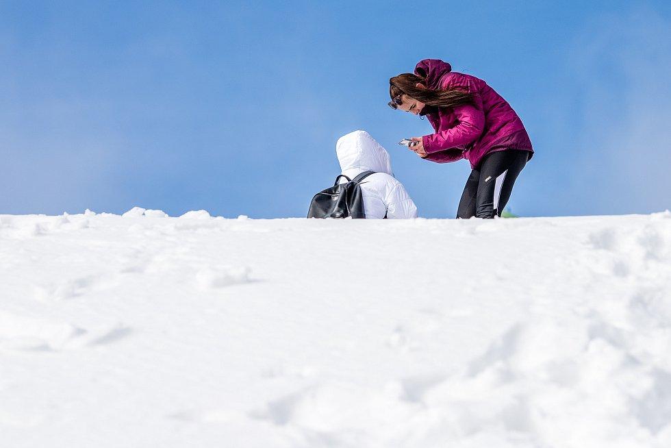 Zimní výstup na Lysou horu, 21. února 2021.