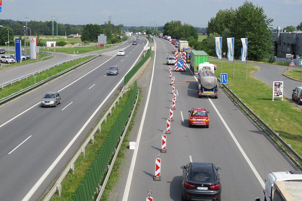 Dálnice D56 mezi Ostravou a Frýdkem-Místkem.