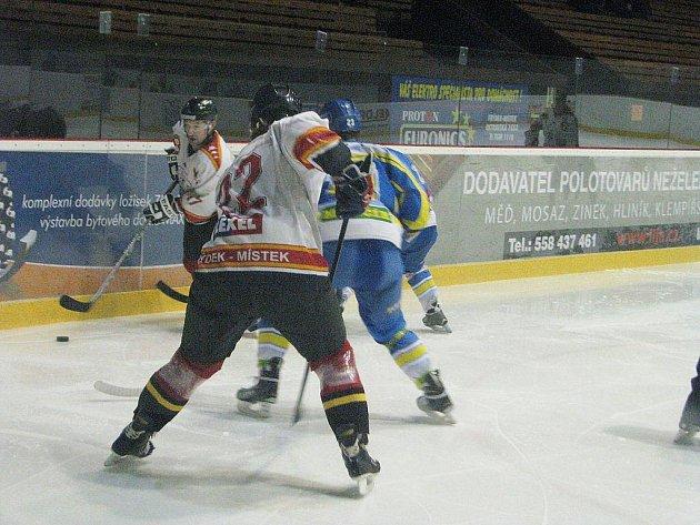 Hokejisté Frýdku-Místku podlehli na domácím ledě soupeři z Břeclavi 1:3.