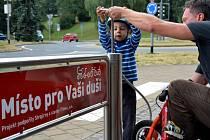 Veřejná pumpa v Třinci.