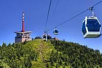 Vizualizace lanovky na Lysou horu, jak se objevila v předvolební kampani ODS.