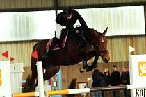 Kristýna Kravčenková na koni Hasky z domácí TJ zvítězila v hlavní soutěži.