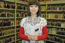 Johanna Szpyrcová v M klubu Městské knihovny Třinec.