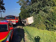 Nehoda kamionu na Třinecku.