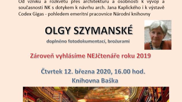 Beseda Olgy Szymanské: Klementinum - Národní knihovna zdaleka nejen pro knihy