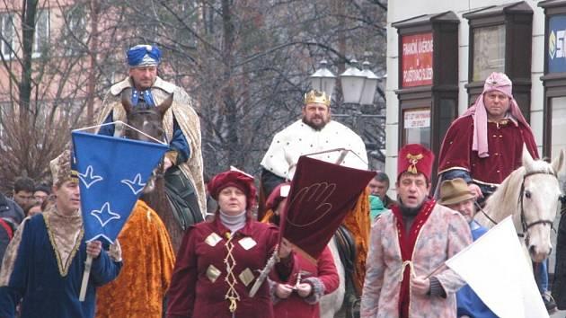 Tři králové v centru Místku.