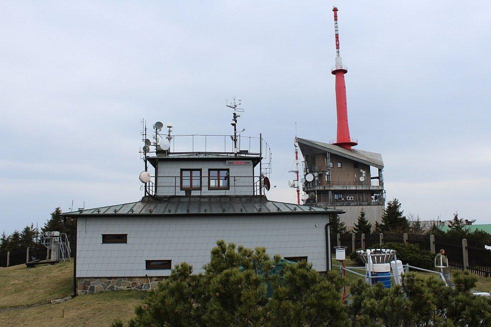 Meteorologická stanice na Lysé hoře v Beskydech.