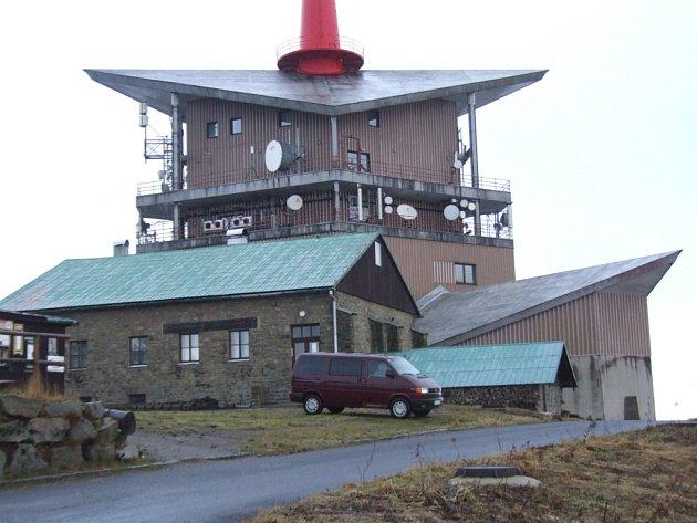 Vysílač na beskydské Lysé hoře.
