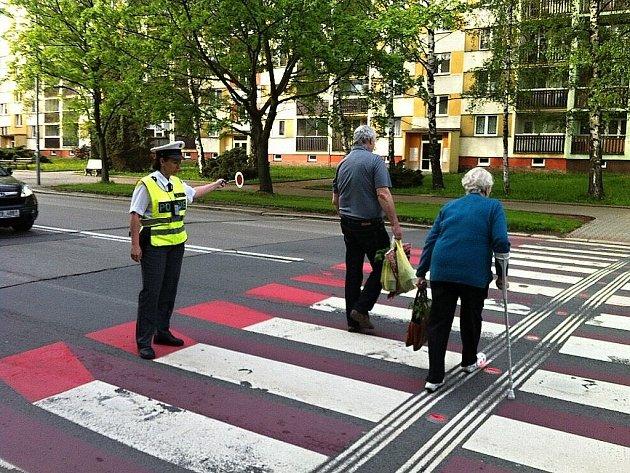 """Rovněž i ve Frýdku-Místku proběhla ve čtvrtek 9. května celorepubliková akce """"Road Safety Week"""", která byla zaměřena na chodce a cyklisty."""