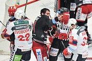 Čtvrtfinále play off hokejové extraligy - 5. zápas: HC Oceláři Třinec - HC Dynamo Pardubice, 21. března 2018 v Třinci.