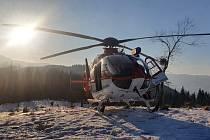 Zásah leteckých záchranářů v Beskydech.