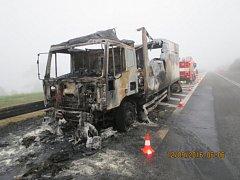 Požár v Mostech u Jablunkova zničil nákladní auto.