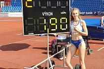 Výškařka Bára Sajdoková nedávno poprvé v kariéře překonala 190 centimetrů