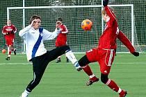 Fotbalisté Frýdku-Místku v generálce na jarní odvetnou část prohráli v domácím prostředí s olomouckými mladíky 0:2.