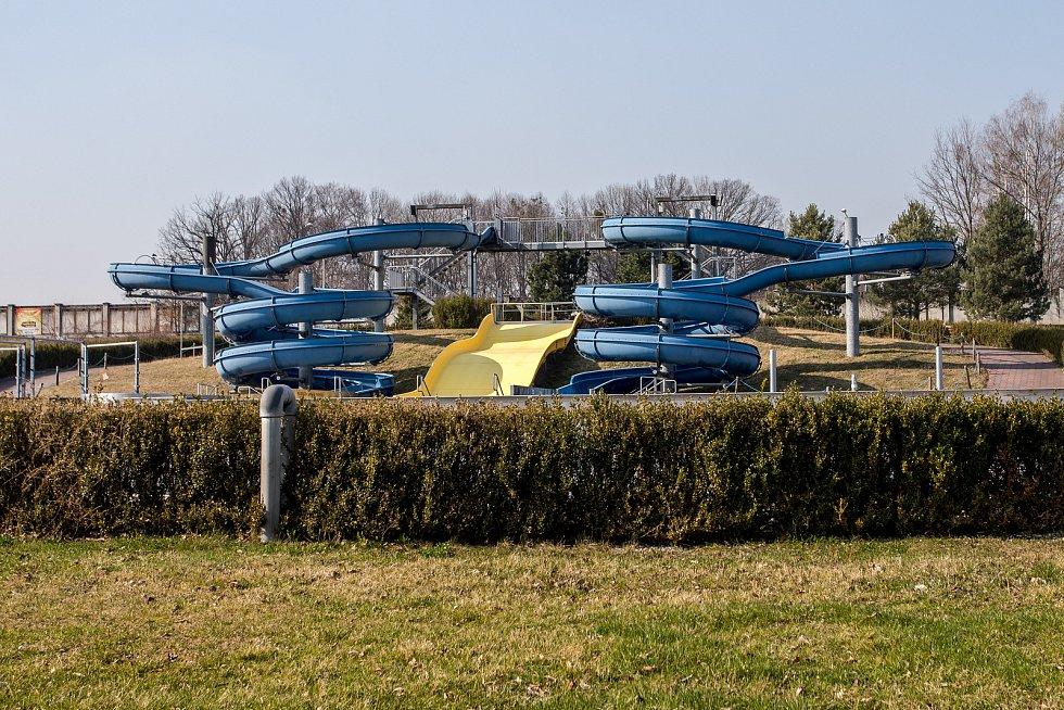 Aquapark Olešná, 28. března 2020 ve Frýdku-Místku.