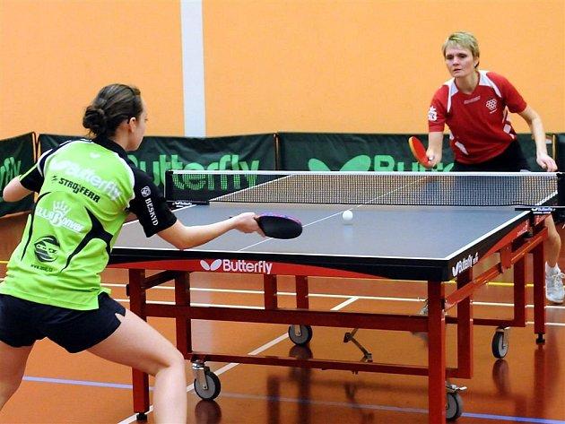 V zápase 17. kola nejvyšší soutěže stolních tenistek si hráčky Frýdlantu snadno poradily s Malenovicemi 6:0.