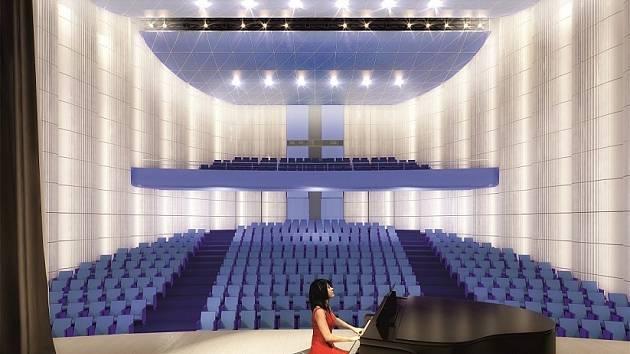 Vizualizace přístavby Národního domu – Nové scény: AI Design.