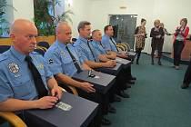 Ocenění třineckých strážníků.