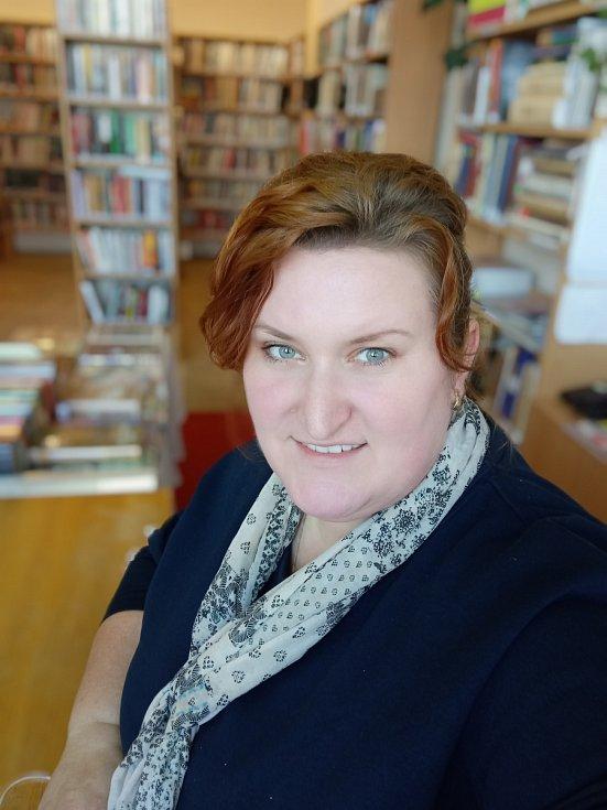Markéta Kološová je jediným zaměstnancem knihovny v Hukvaldech.