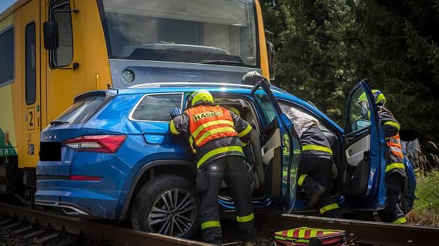 Nehoda v Horních Tošanovicích.
