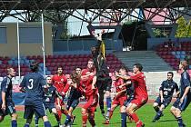 Druholigoví fotbalisté Třince si na úvod letní přípravy zahráli nejprve s divizním Lískovcem (snímek je z tohoto utkání) a slovenským nováčkem nejvyšší soutěže - Trenčínem