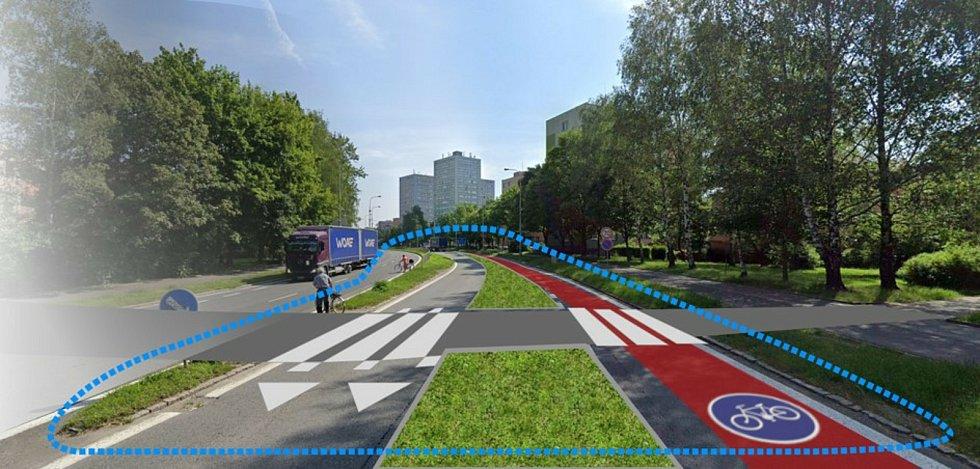 Vizualizace úprav v budoucnosti (dole).
