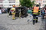 V sobotu 11. května se Zámecké náměstí ve Frýdku hemžilo hasiči.