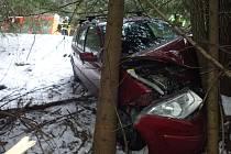 Nehoda ve Starých Hamrech.
