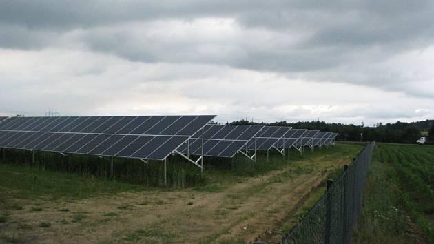 Solární elektrárna ve Vojkovicích.