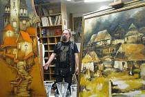 Výstavu portrétů, kytic a snových krajin zahájila v Galerii u Jakuba ve čtvrtek vernisáž, na které nechyběl ani jeden z autorů vystavených děl Ondřej Kočár. Jedná se o již tradiční výstavu olejomaleb Ondřeje a Vladimíra Kočárových.