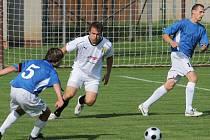 Fotbalové utkání Janovice versus Metylovice.