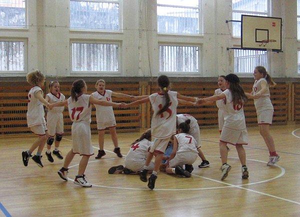 Utkání nejmladších basketbalistek.