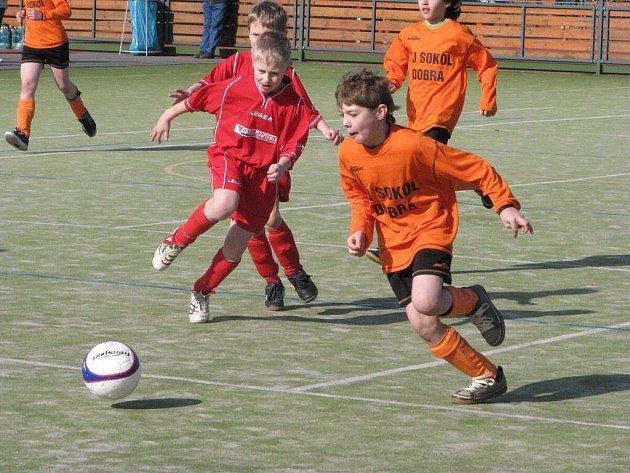 Turnaj pro nejmenší fotbalisty a fotbalistky v Dobré.