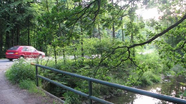 Hranici mezi Janovicemi, Raškovicemi a Skalicí tvoří potok, který průběžně mění koryto.