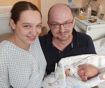 Ondřej Pichl s rodiči, Frýdek-Místek, nar. 5. 10., 50 cm, 3,70 kg, Nemocnice ve Frýdku-Místku.