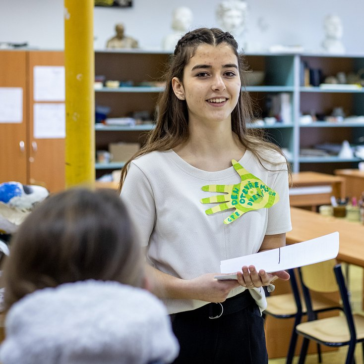 Den otevřených dveří na Gymnáziu Petra Bezruče, 5. února 2020 ve Frýdku-Místku.