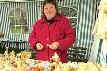 Mária Kubalová své výrobky prodá- vala na vánoční výstavě ve Frýdlantu na Ostravicí.