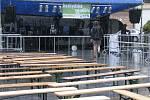 Akci Jazz ve městě předčasně ukončilo počasí.