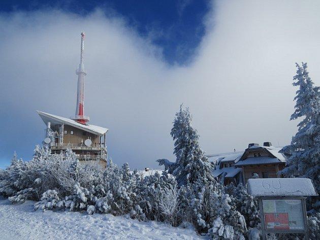 Vysílač na Lysé hoře.