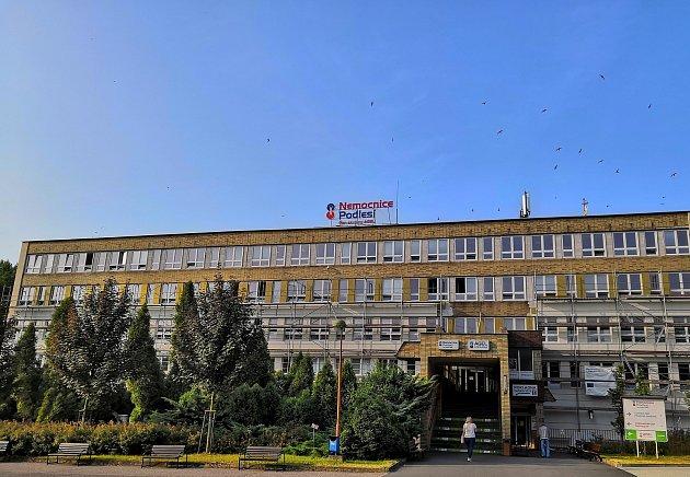 Hejno rorýsů krouží nad Nemocnicí Podlesí vTřinci.